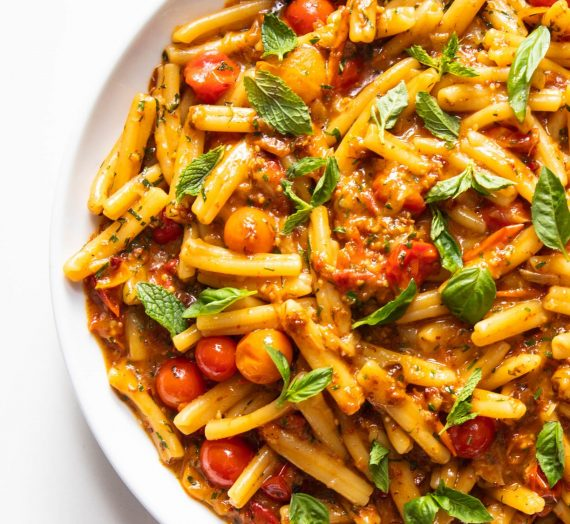 Pasta with Burst Cherry Tomatoes and XO Sauce